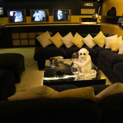 Pokój telewizyjny w domu Elvisa Presleya, fot. Beata Pawlikowska
