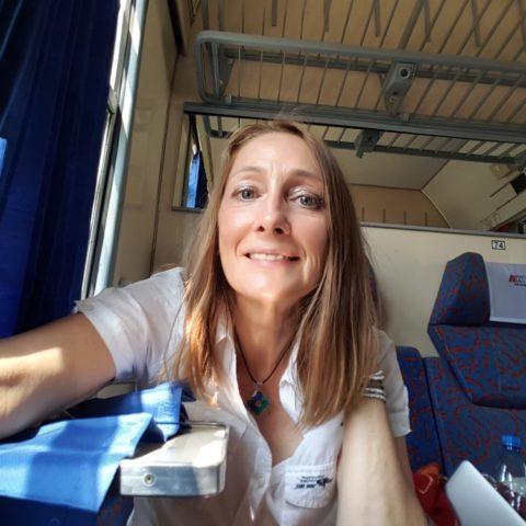 W polskim pociągu, fot. Beata Pawlikowska