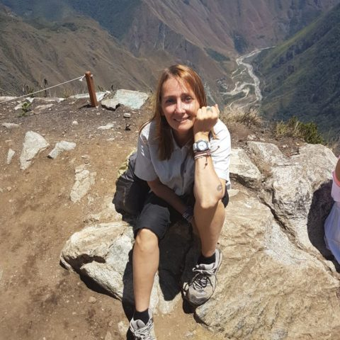 Na szczycie góry Machu Picchu
