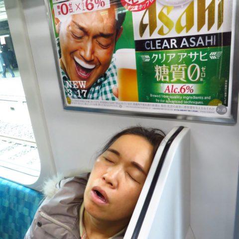 W japońskim pociągu:) fot. Beata Pawlikowska