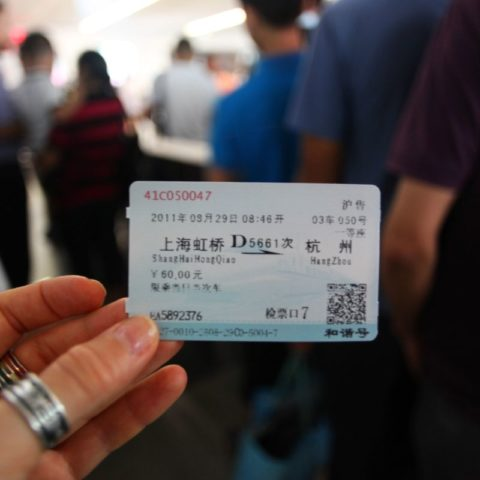 Chiński bilet na pociąg, W pociągu w Japonii, fot. Beata Pawlikowska