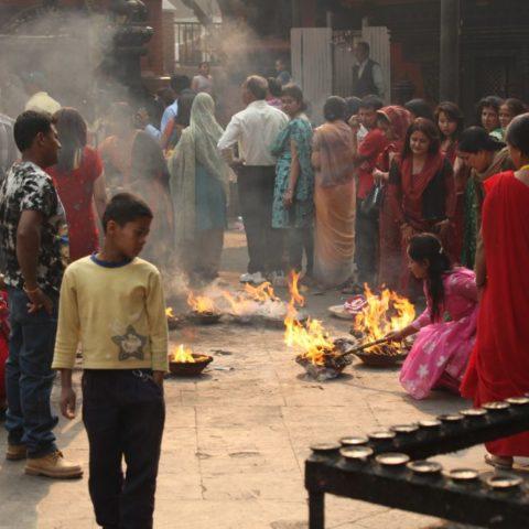 W hinduistycznej świątyni w Kathmandu, fot. Beata Pawlikowska