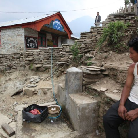 W jednej z wiosek w okolicach Annapurny, fot. Beata Pawlikowska