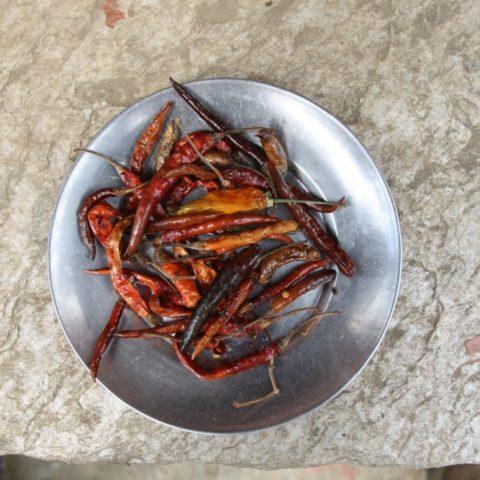 Ostra suszona papryka – jedna z najważniejszych himalajskich przypraw fot. Beata Pawlikowska