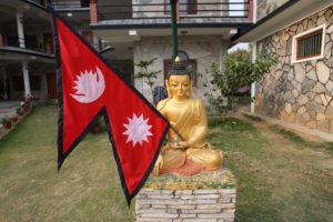 Flaga Nepalu. fot. Beata Pawlikowska
