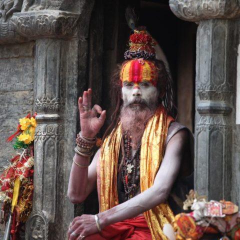 Sadhu, hinduistyczny kapłan, asceta, który wyrzekł się dóbr materialnych fot. Beata Pawlikowska