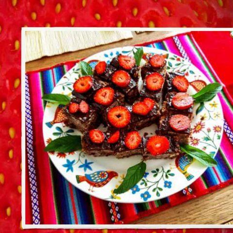 Ciasto truskawkowe z czekoladą,  fot. Beata Pawlikowska