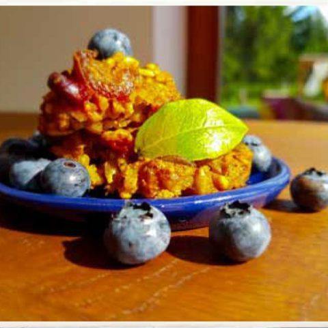 Owsiane ciastka z jagodami,  fot. Beata Pawlikowska