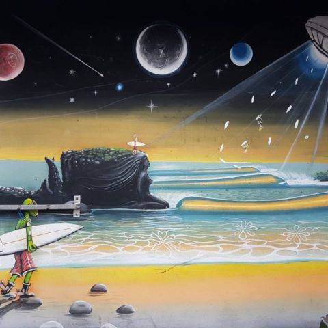 Mural w El Tunco,  fot. Beata Pawlikowska