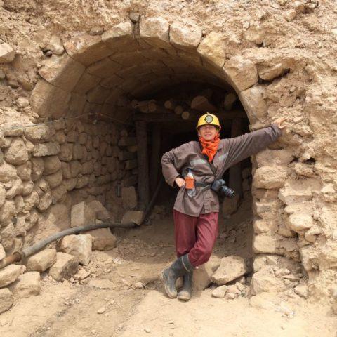 Przed wejściem do kopalni