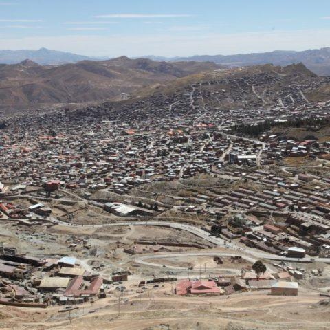 Widok na miasto sprzed kopalni, fot. Beata Pawlikowska
