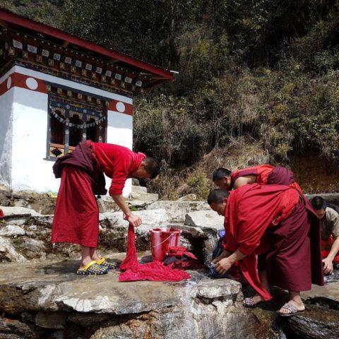 W klasztorze w górach Bhutanu, fot. Beata Pawlikowska