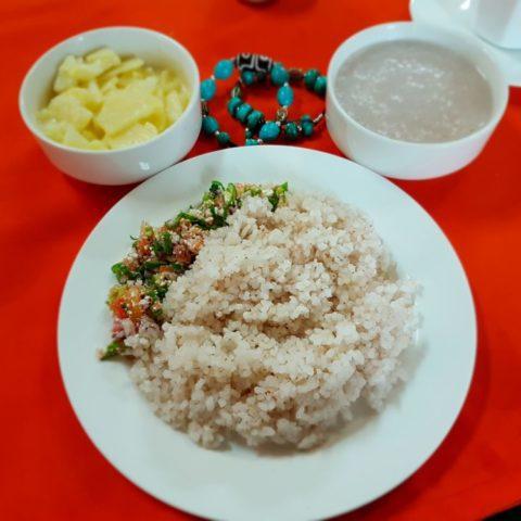 Czerwony ryż, odmiana, która rośnie tylko w Bhutanie, fot. Beata Pawlikowska