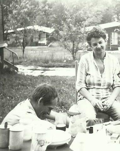 Moi rodzice, urlop pod namiotami