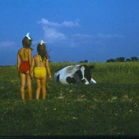 Z siostrą w polu, fot. Adam Pawlikowski