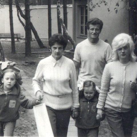 Podczas wczasów w NRD z mamą i siostrą, fot. Adam Pawlikowski
