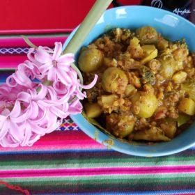 Przepis na curry z brukselką i brokułami