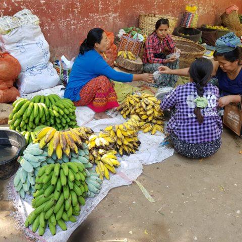 Banany na targowisku, fot. Beata Pawlikowska