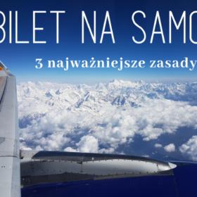 Bilet lotniczy - 3 najważniejsze zasady