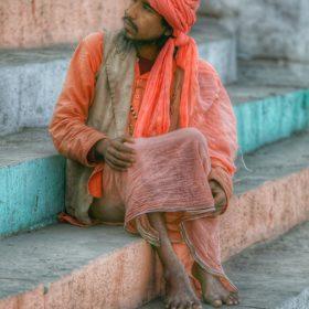 Na schodach w Varanasi