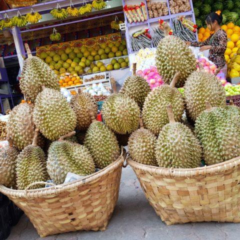 Duriany, najbardziej cuchnące owoce świata. Ich zapach przypomina woń zjełczałego sera, starych jajek i zepsutego mięsa