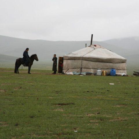 Zakochani na stepach Mongolii