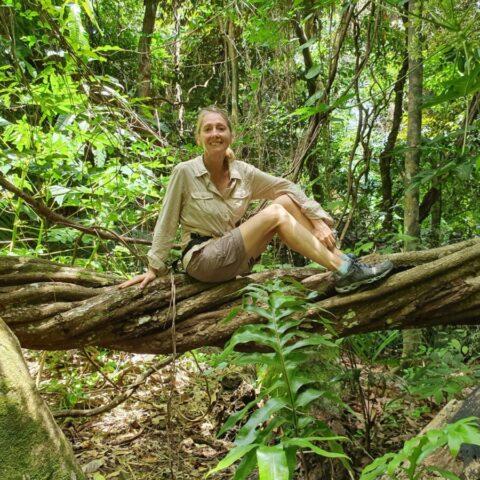 Podczas wędrówki przez dżunglę.
