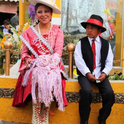 A może jednak mam szansę?... Podczas miejscowego festiwalu w Potosi, Boliwia.