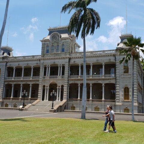 Pałac królowej Lili'uokalani w Honolulu na Hawajach.