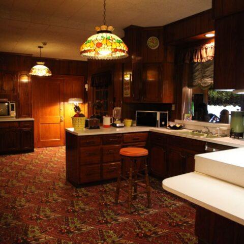 W kuchni w Graceland.