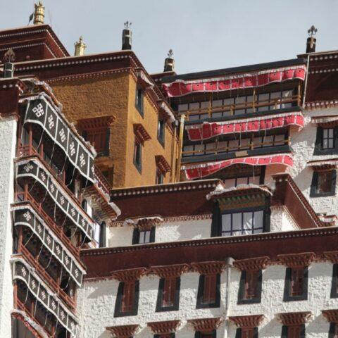 Pałac Potala, zimowa siedziba Dalajlamy w Tybecie.