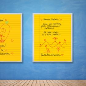 Żółta kartka na ścianę