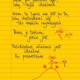 Nieidealne jest prawdziwe  #żółtakartka