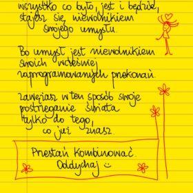 Przestań kombinować. Oddychaj. #żółtakartka