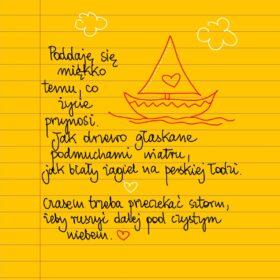 Jak żagiel na łodzi