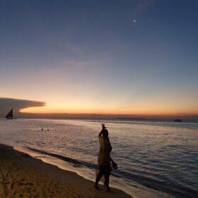 Zachód słońca nad Oceanem Indyjskim